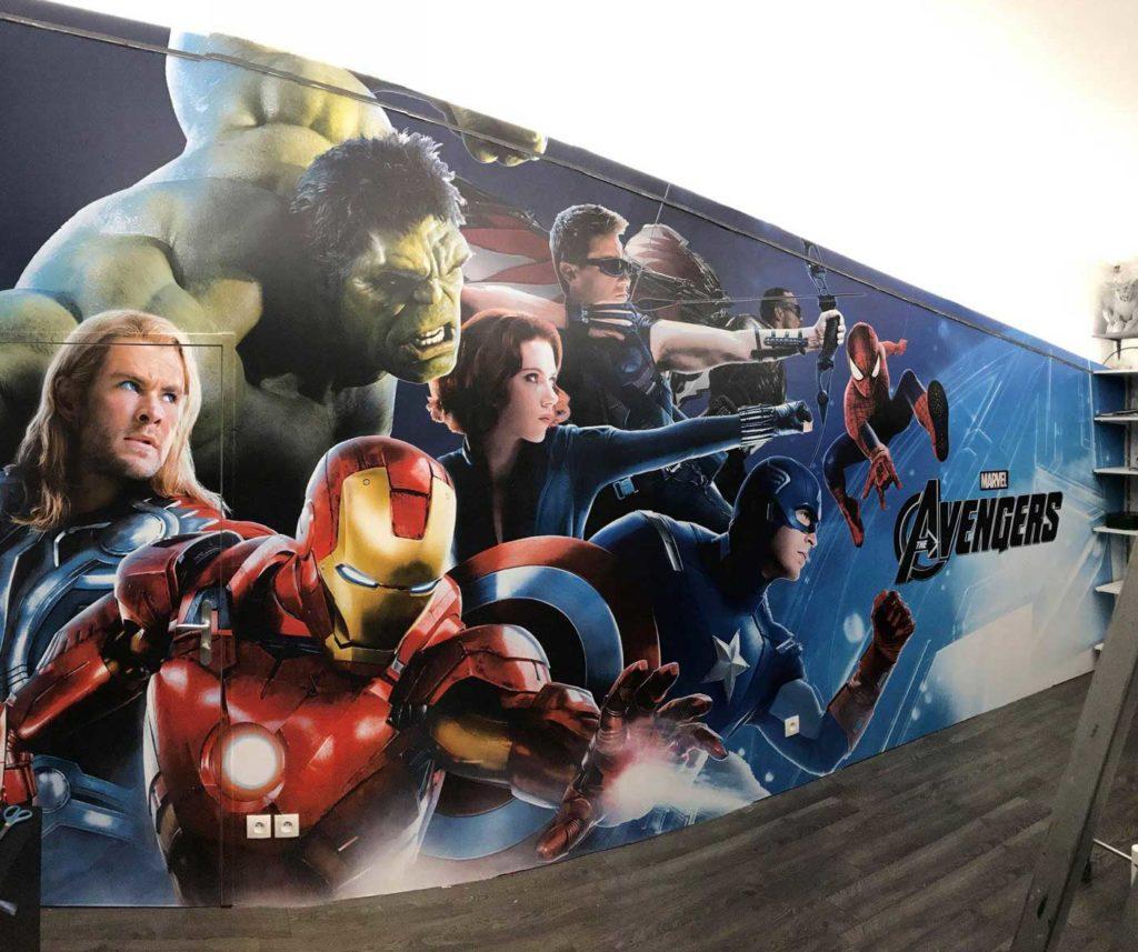 Habillage Mural Avengers