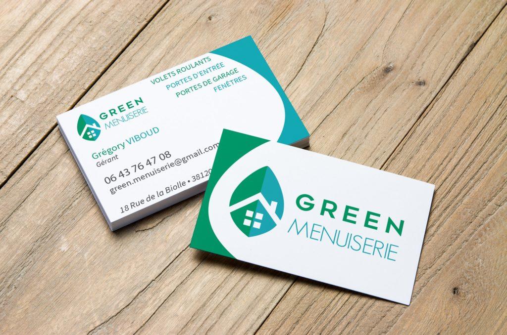 Carte de visite Green Menuiserie