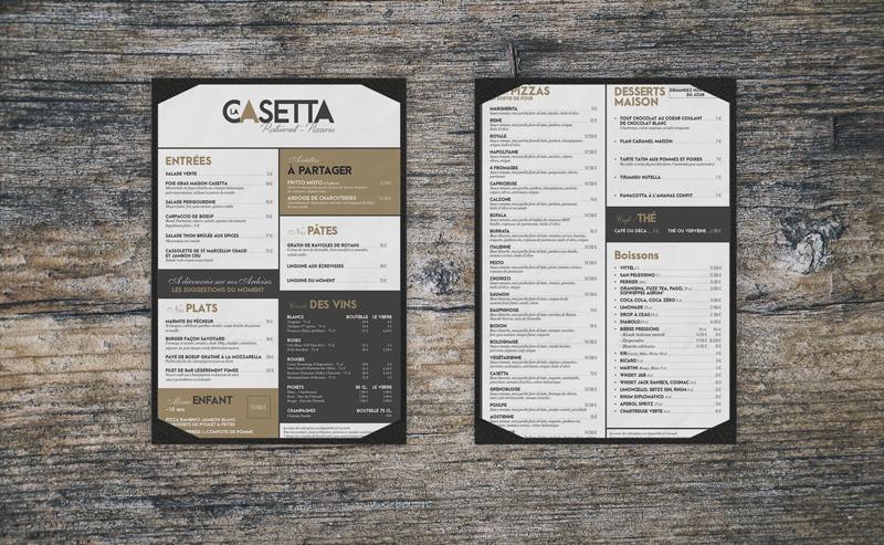 Menu La Casetta